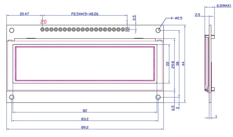 Tortuga Audio OLED display dimensions