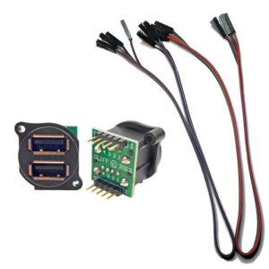 dual usb port with 5 pin cables