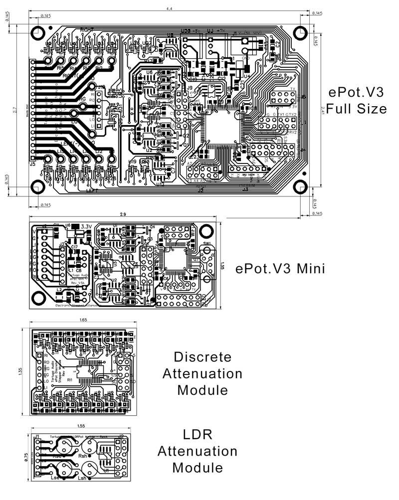 ePot.V3 stepped attenuators