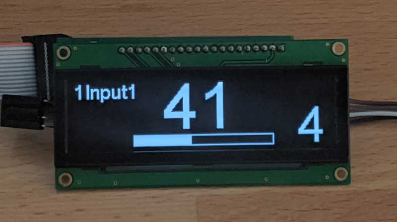 OLED display - channel balance